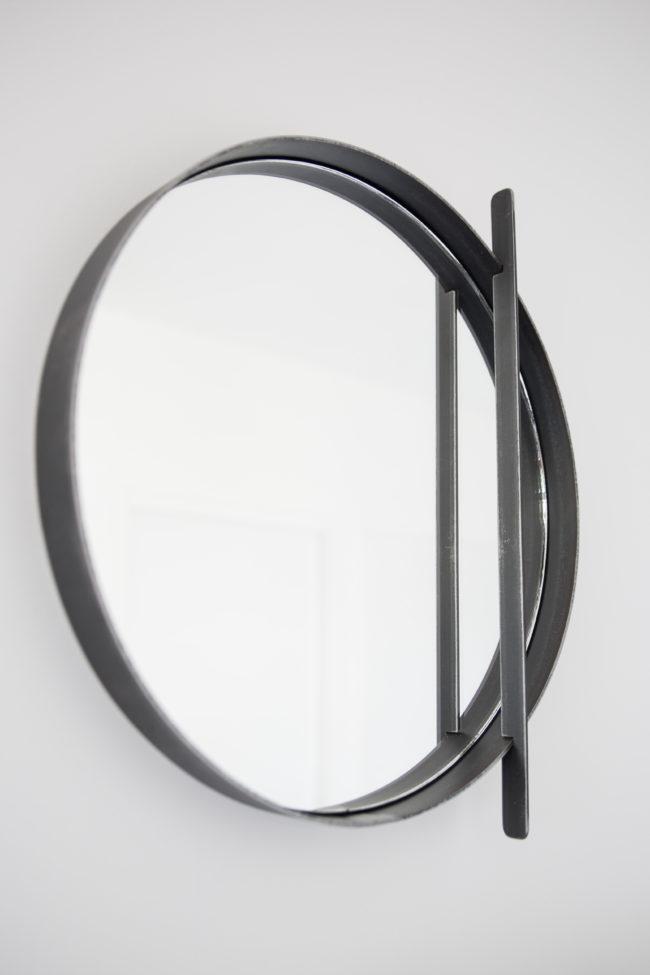 Miroir rond Acier